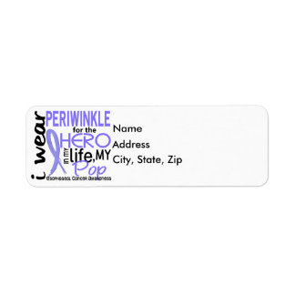 Periwinkle For Hero In Life Pop Esophageal Cancer Label