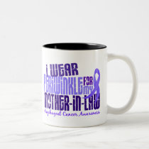 Periwinkle For Mother-In-Law 6.4 Esophageal Cancer Two-Tone Coffee Mug