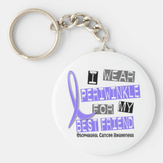 Periwinkle For My Best Friend Esophageal Cancer Keychain