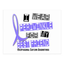 Periwinkle For My Best Friend Esophageal Cancer Postcard