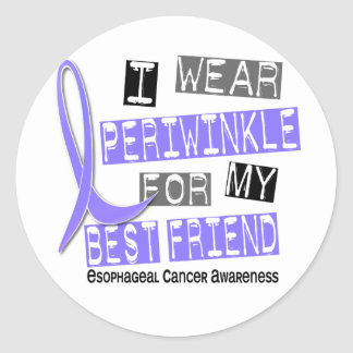 Periwinkle For My Best Friend Esophageal Cancer Round Sticker