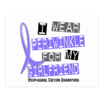 Periwinkle For My Girlfriend Esophageal Cancer Postcard