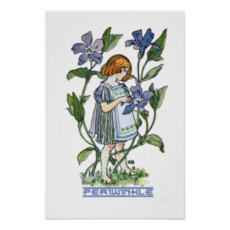 Periwinkle Girl Poster