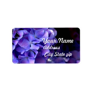 Periwinkle Hydrangea Wedding collection Label