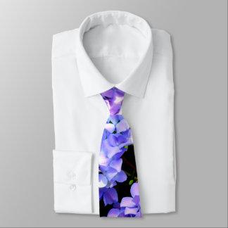 Periwinkle Hydrangeas Neck Tie
