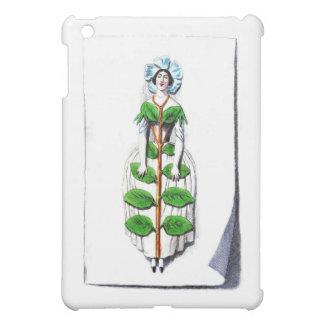 Periwinkle Lady Flower Painting iPad Mini Cases