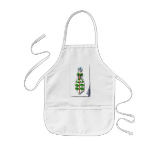 Periwinkle Lady Flower Painting Kids' Apron