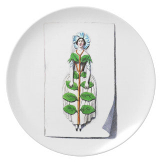Periwinkle lady flower plate
