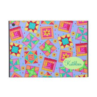 Periwinkle Lavender Quilt Patchwork Blocks Art Covers For iPad Mini