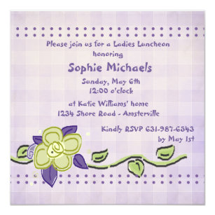 ladies luncheon invitations zazzle