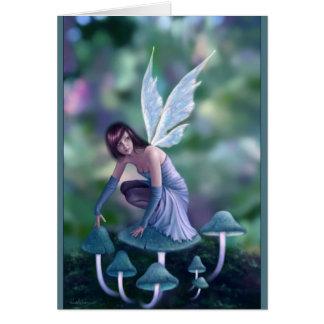 Periwinkle Mushroom Fairy Greeting Cards