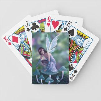 Periwinkle Mushroom Fairy Playing Cards