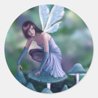 Periwinkle Mushroom Fairy Sticker