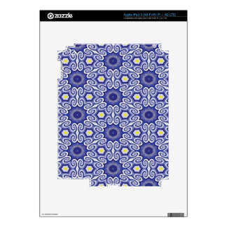 Periwinkle optical illusion skins for iPad 3