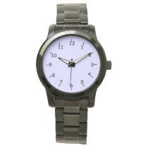Periwinkle Oversized Black Bracelet Wrist Watches