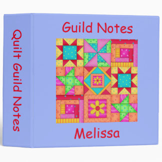 Periwinkle Patchwork Name Personalized Quilt Album Binder