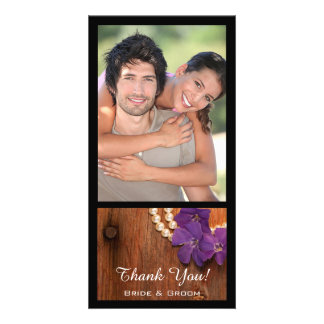 Periwinkle, Pearls and Barn Wood Country Thank You Card