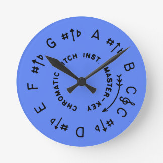 Periwinkle Pitch Pipe Round Clock