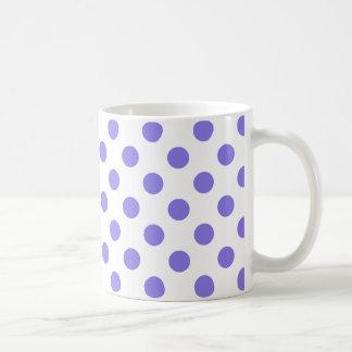 Periwinkle polka dots coffee mug