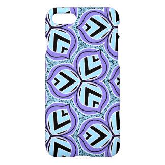 Periwinkle posies iPhone case trefoil pattern