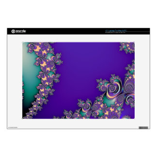 Periwinkle Purple and Mint Fractal Skins Decal For Laptop