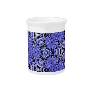 Periwinkle Purple Clean Modern Geometric Pattern Beverage Pitcher