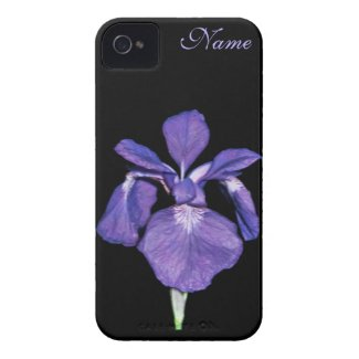 Periwinkle Purple Iris Personalized iPhone Case