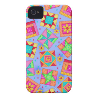 Periwinkle Quilt Patchwork Art iPhone Case