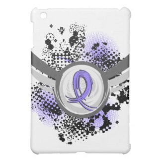 Periwinkle Ribbon And Wings Esophageal Cancer iPad Mini Cases