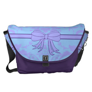 Periwinkle ribbon large messenger bag