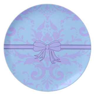 Periwinkle ribbon plate