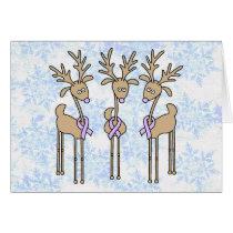 Periwinkle Ribbon Reindeer