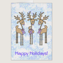Periwinkle Ribbon Reindeer Card
