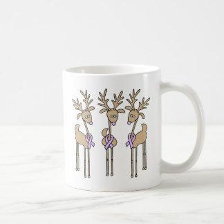 Periwinkle Ribbon Reindeer Coffee Mug