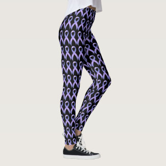Periwinkle Ribbon - Stomach Cancer Awareness Leggings