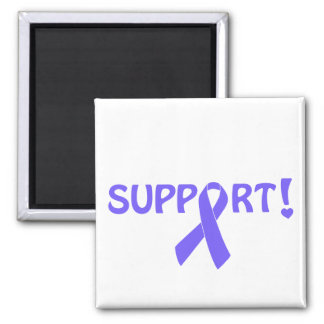 Periwinkle Ribbon Support! 2 Inch Square Magnet