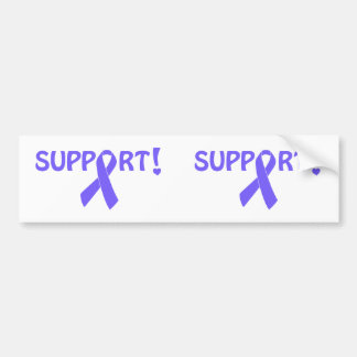 Periwinkle Ribbon Support! Bumper Sticker