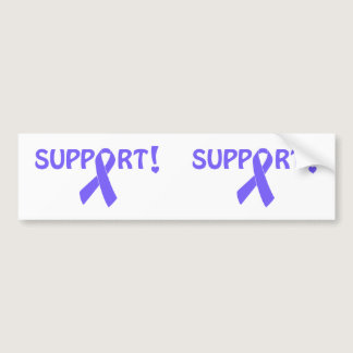 Periwinkle Ribbon Support! Bumper Sticker