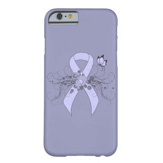 Periwinkle Ribbon with Butterfly Barely There iPhone 6 Case