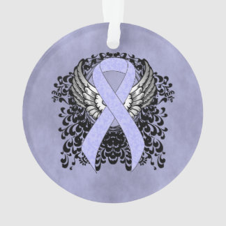 Periwinkle Ribbon with Wings Ornament