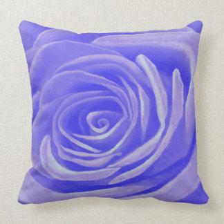 Periwinkle Rose Throw Pillow