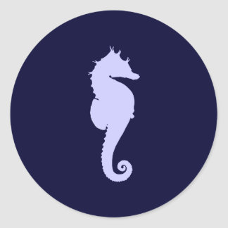Periwinkle Sea Horse Stickers