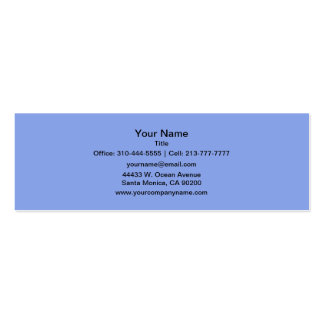 Periwinkle Solid Color Double-Sided Mini Business Cards (Pack Of 20)