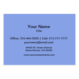 Periwinkle Solid Color Large Business Cards (Pack Of 100)