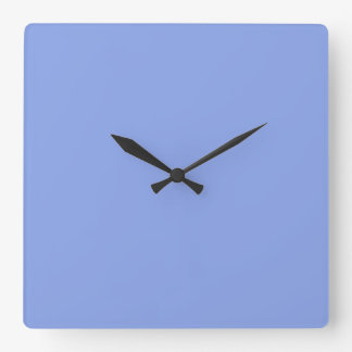 Periwinkle Solid Color Square Wallclocks