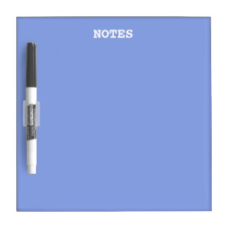 Periwinkle Solid Color Dry-Erase Board