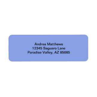 Periwinkle Solid Color Label