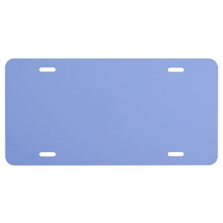 Periwinkle Solid Color License Plate