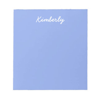 Periwinkle Solid Color Notepad