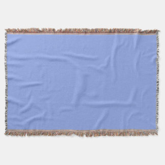 Periwinkle Solid Color Throw